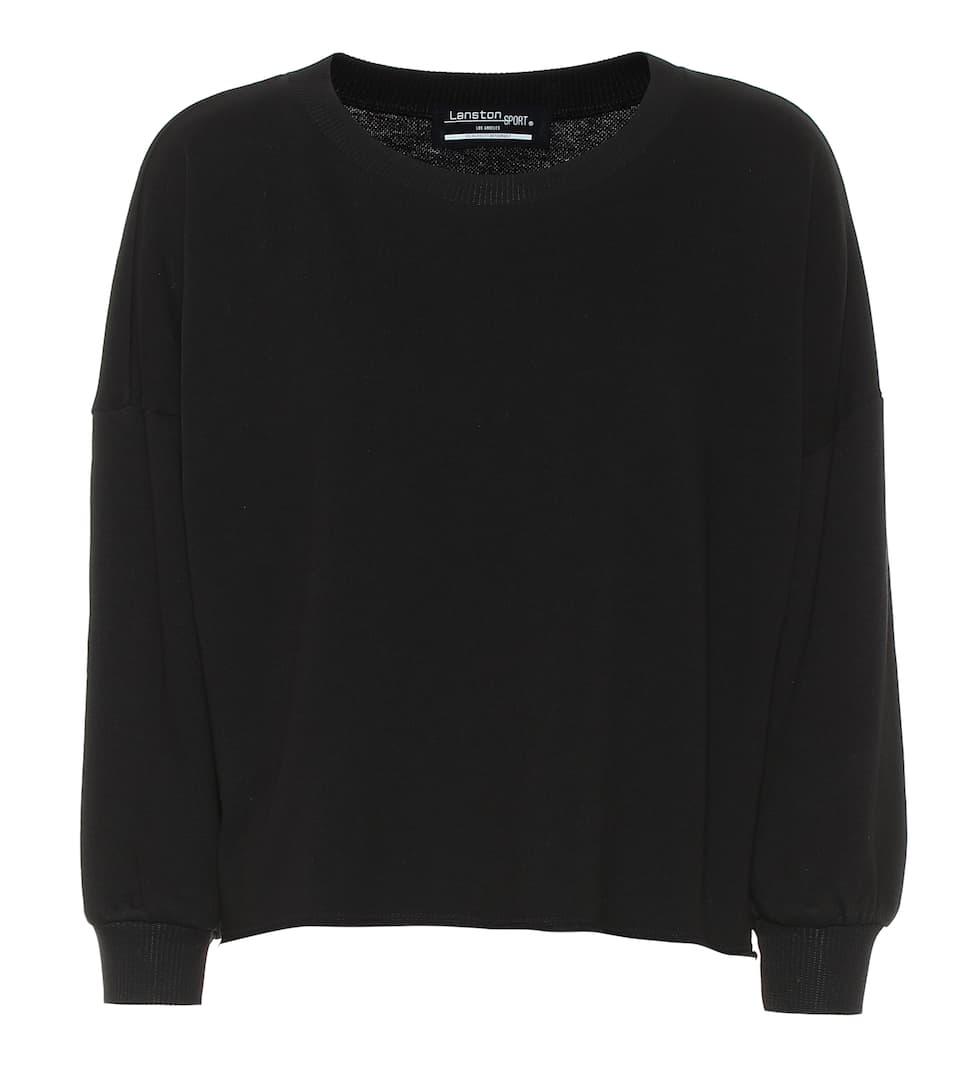 86e6553f3 Lanston Sport - Sweat-shirt raccourci en coton mélangé | Mytheresa