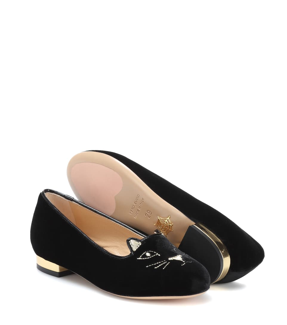 Charlotte Olympia Samt-pantoufles Incy Kitty