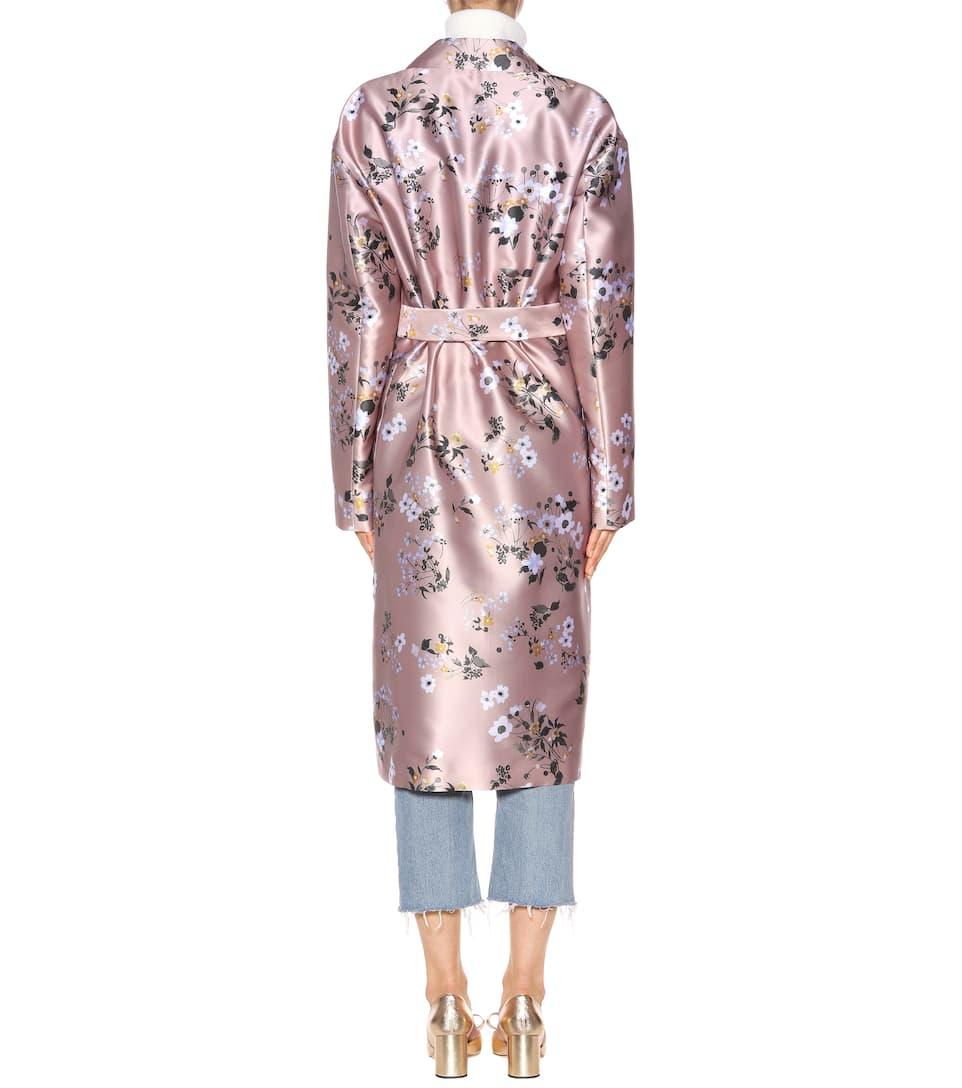 Rochas Bedruckter Mantel mit Seidenanteil