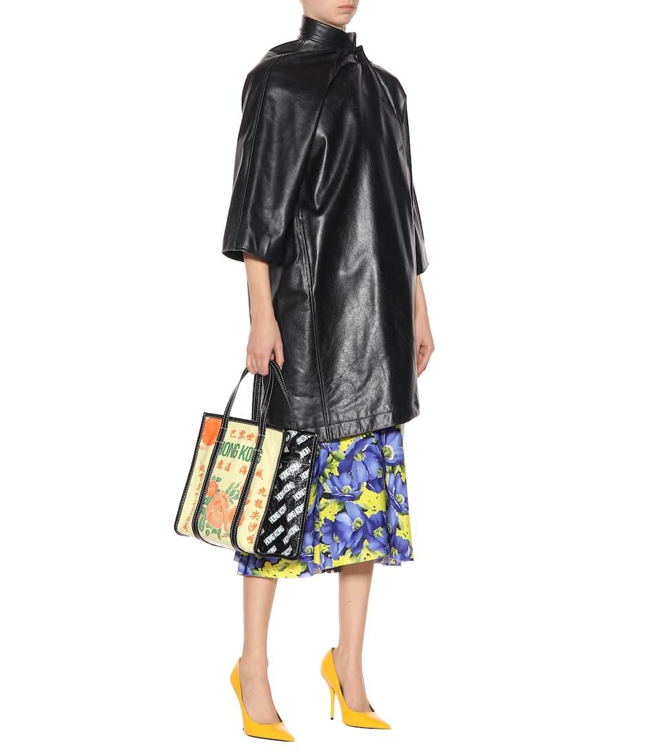 Balenciaga Bedruckter Mantel aus Leder