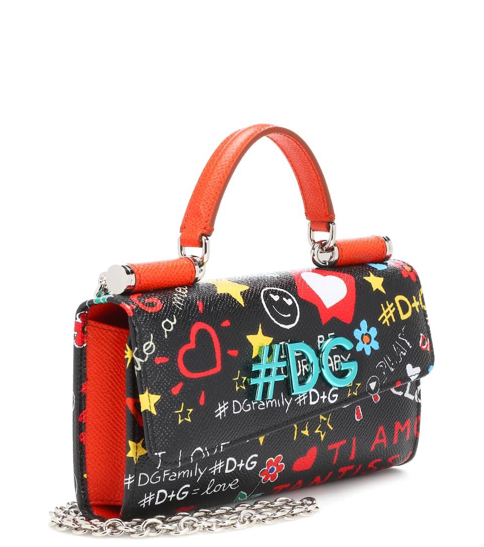 Freier Versandauftrag Dolce & Gabbana Crossbody-Tasche Phone Graffiti aus Leder Freies Verschiffen Outlet-Store Freies Verschiffen Preiswerter Preis hRfAk