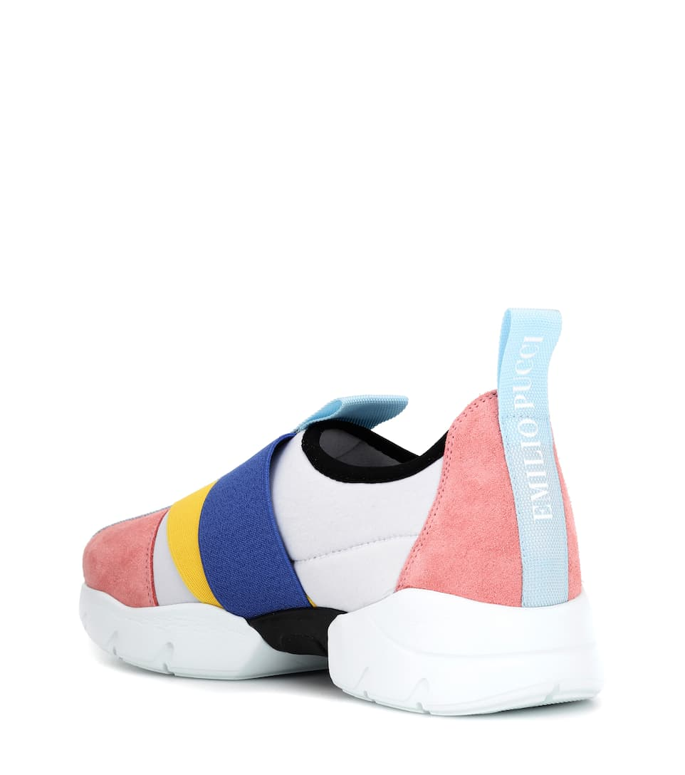 Emilio Pucci Sneakers With Suede