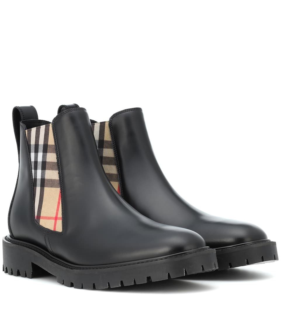 41f71570b43 Leather Chelsea Boots - Burberry