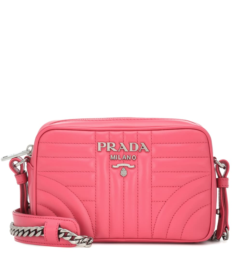 86cc94a1f6 Diagramme Leather Crossbody Bag - Prada