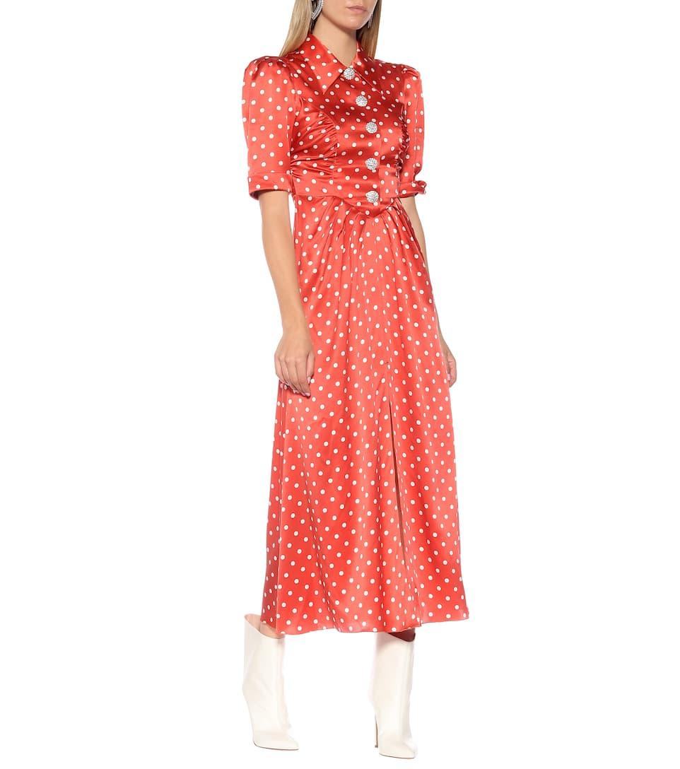 78ad3523 Alessandra Rich - Vestido de seda de lunares   Mytheresa