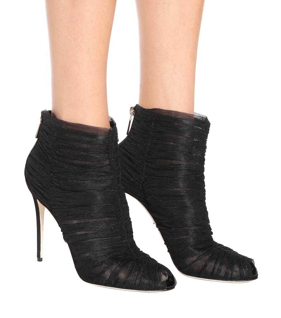 Dolce & Gabbana Ankle Boots aus Tüll