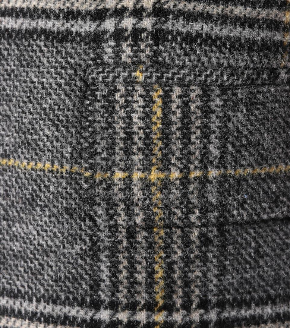 Gris de de Blazer Plaid de lana mezcla Amarillo AlexaChung Negro aqIwR8