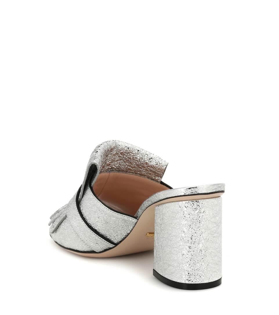 Ansicht Verkauf Online Billig 100% Original Gucci Pantoletten aus Leder Finden Große Countdown Paket Günstiger Preis Großhandel IGGUdq