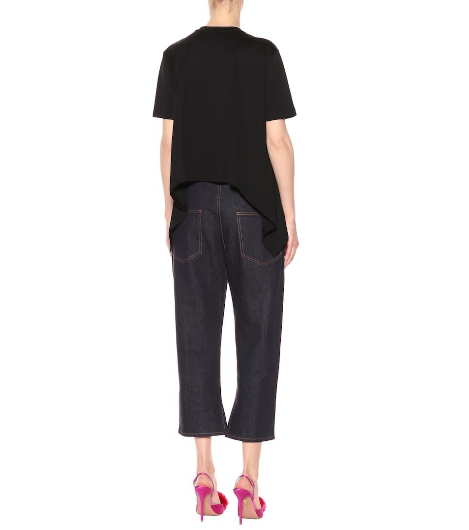 Fendi Verzierung Baumwolle aus Fendi T T mit Shirt Shirt 181qRr