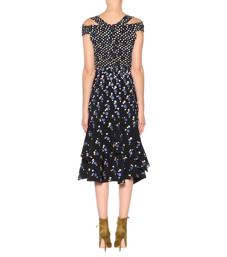 Peter Pilotto Asymmetrisches Midikleid mit Cut-outs