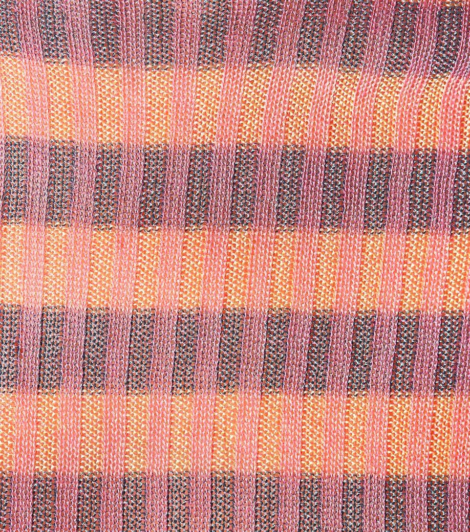 Acne de Studios con Rutmar Stripe rayas Pink algodón de acanalado Suéter 1Rqzz