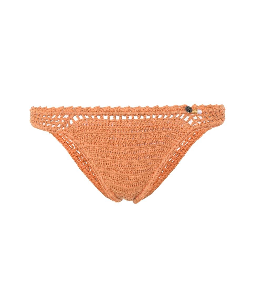 SHE MADE ME Essential Bikini Bottoms in Orange