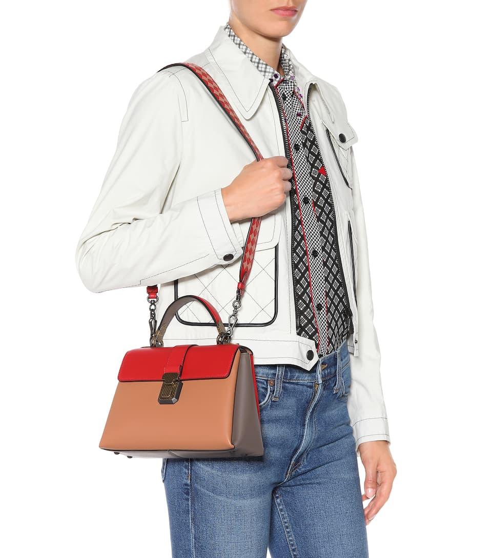 281e314e20 Small Piazza Leather Shoulder Bag - Bottega Veneta