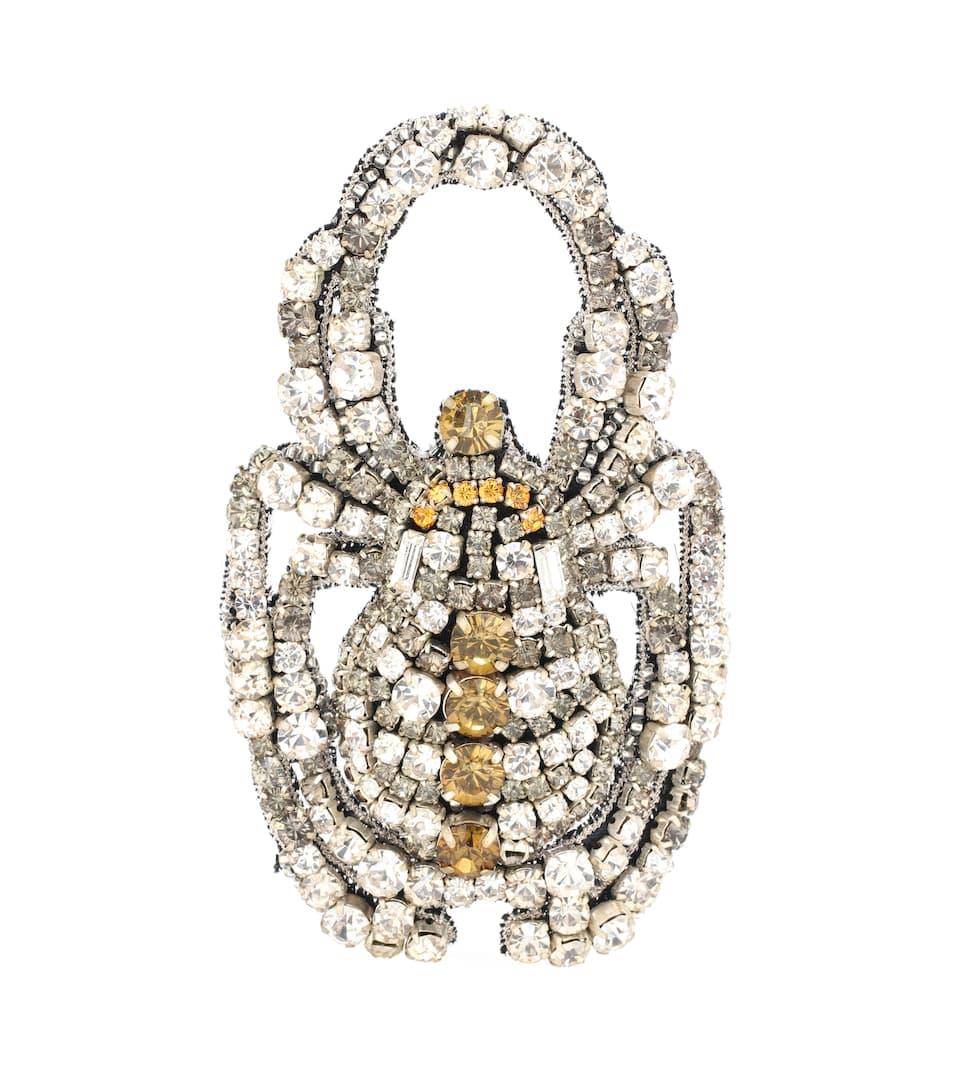 Crystal Embellished Brooch Rochas Mytheresa