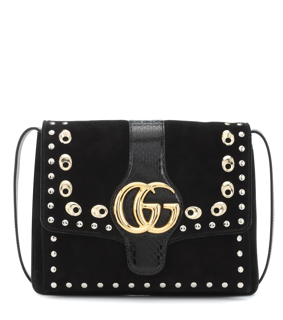 bd73dc70861 Arli Medium Suede Shoulder Bag - Gucci