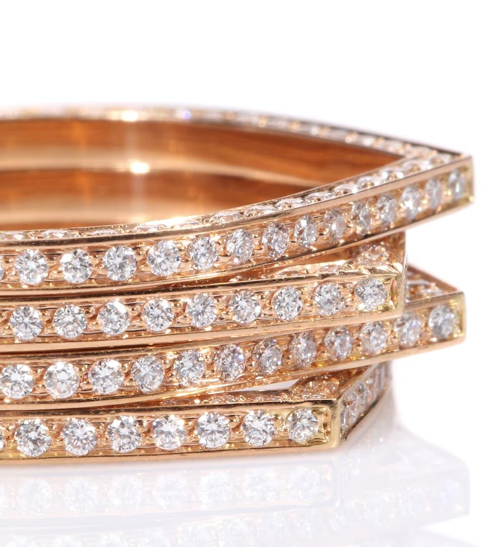 Bague En Or Rose 18 Ct Et Diamants Blancs Antifer - Repossi Prix Le Moins Cher NbZ8l