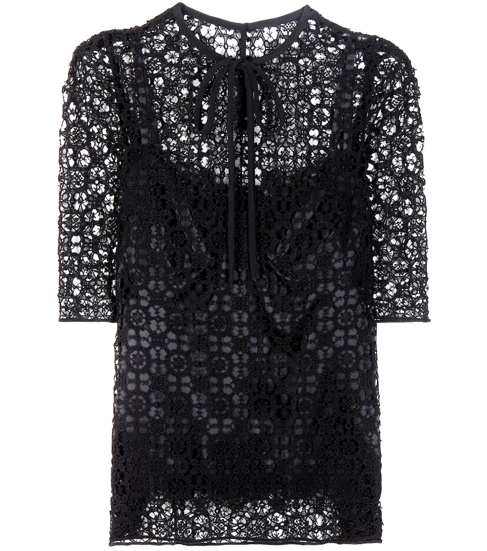 cc4e186393b Dolce   Gabbana - Lace blouse