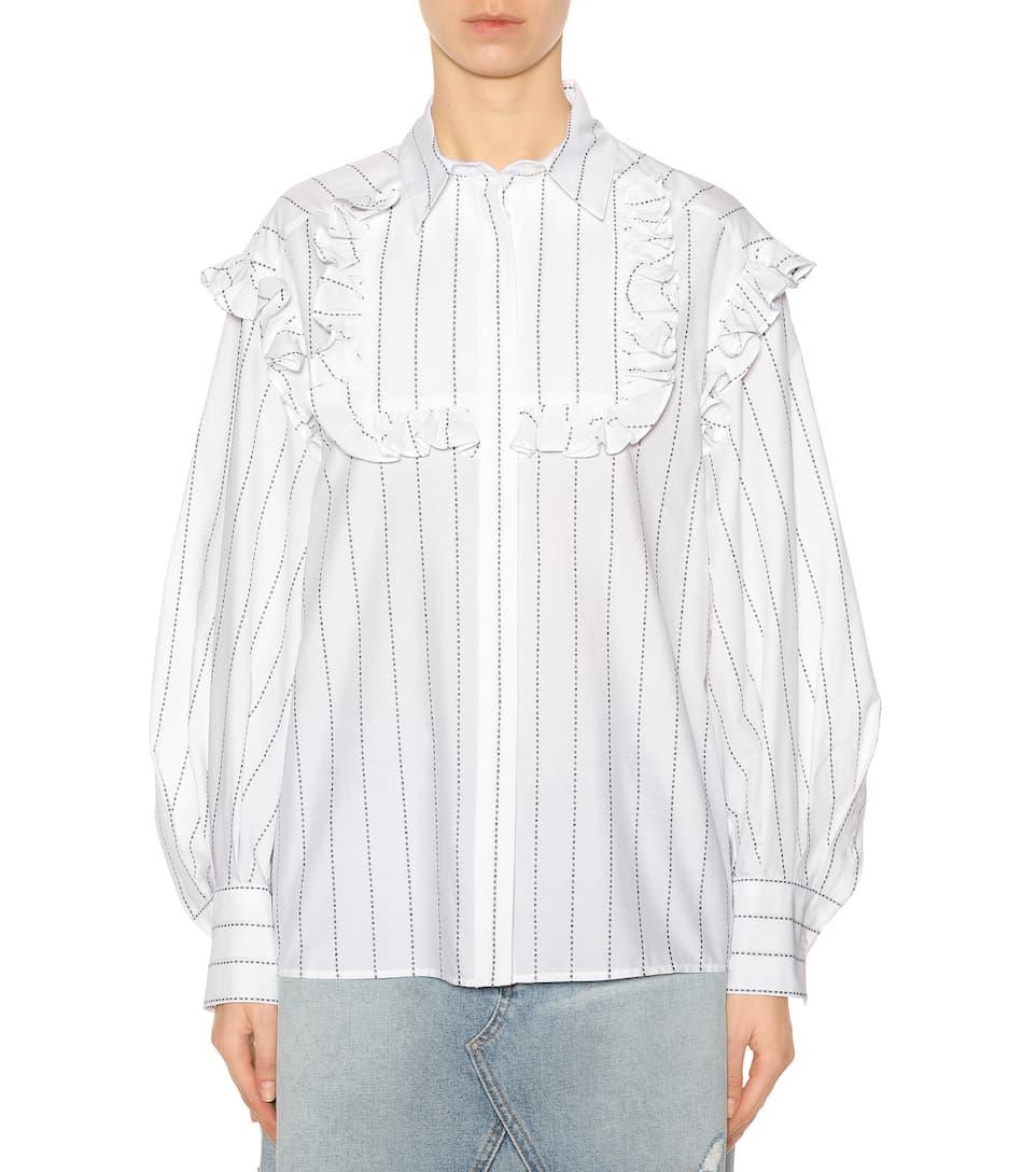 MSGM Bluse aus Baumwolle mit Rüschen