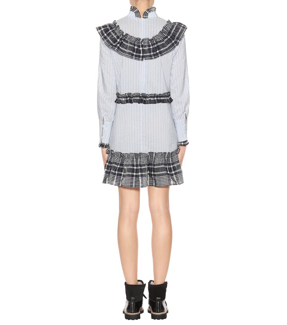 Ganni Kleid Charron aus Seersucker