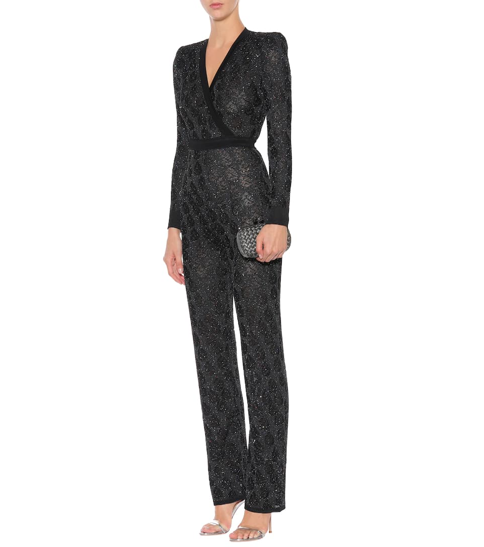 Balmain sequinned knit jumpsuit Cheap Sale Low Shipping Fee Free Shipping Cheap Quality Cheap The Cheapest Cheap Find Great AEtke