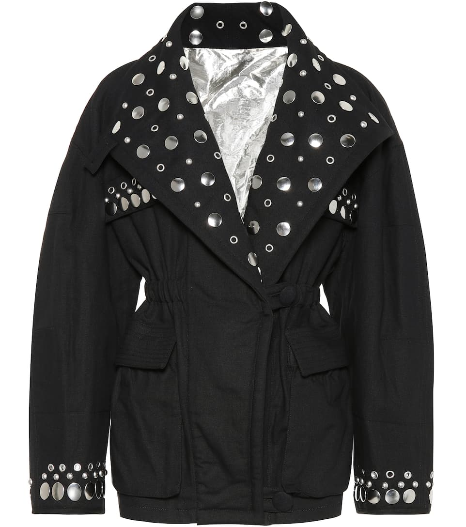 Marant Isabel de Faded chaqueta Black Emmetis reversible algodón zfdfqr