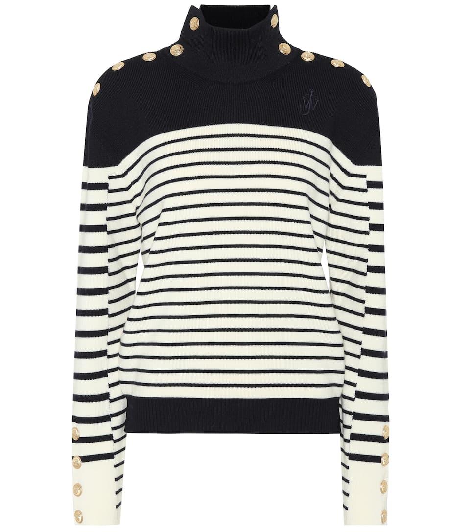 Clearance Geniue Stockist Wholesale Online Embellished striped wool sweater J.W.Anderson Eastbay 4PpJ1