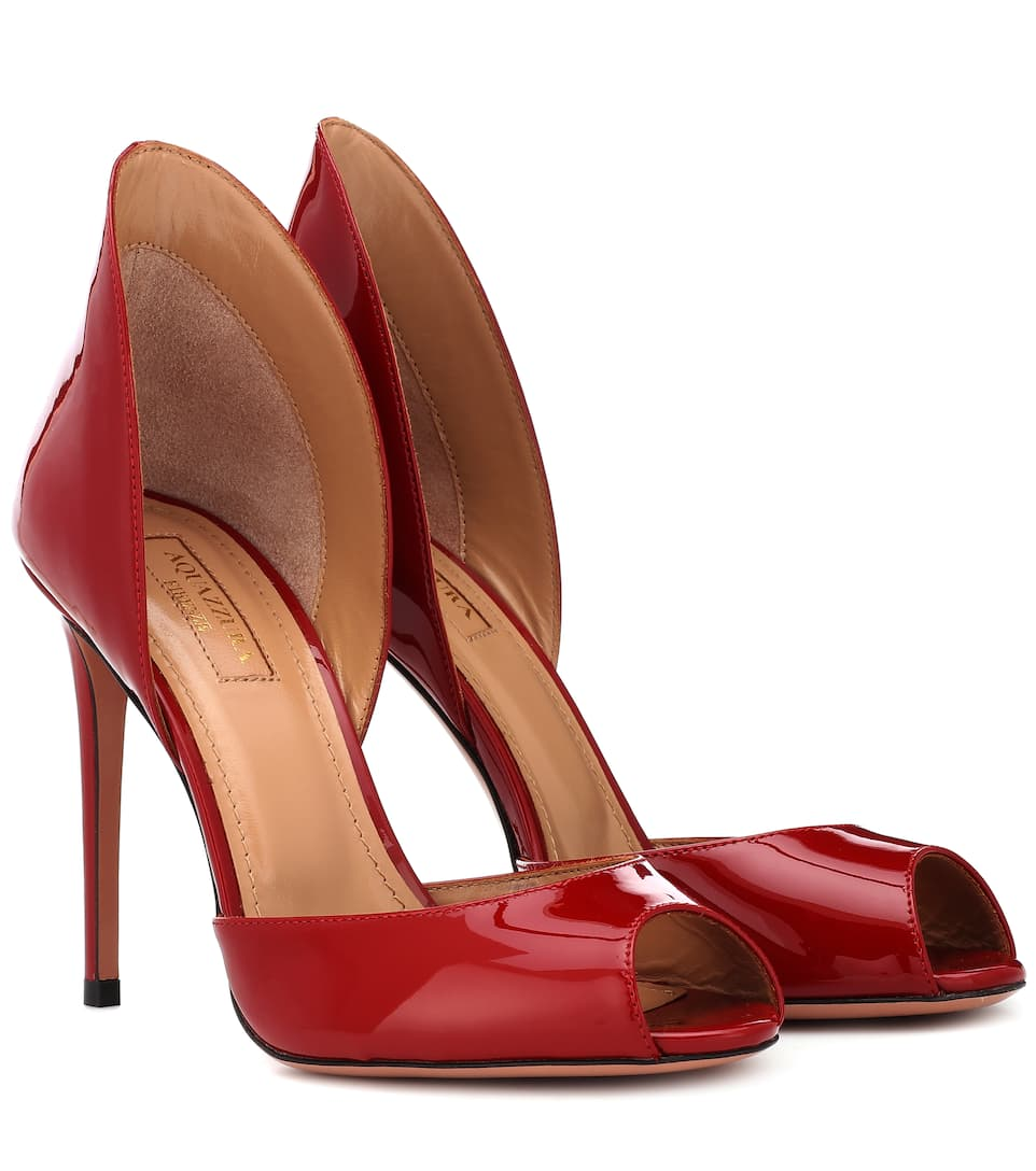 Concorde 105 Patent Leather Pumps in Red