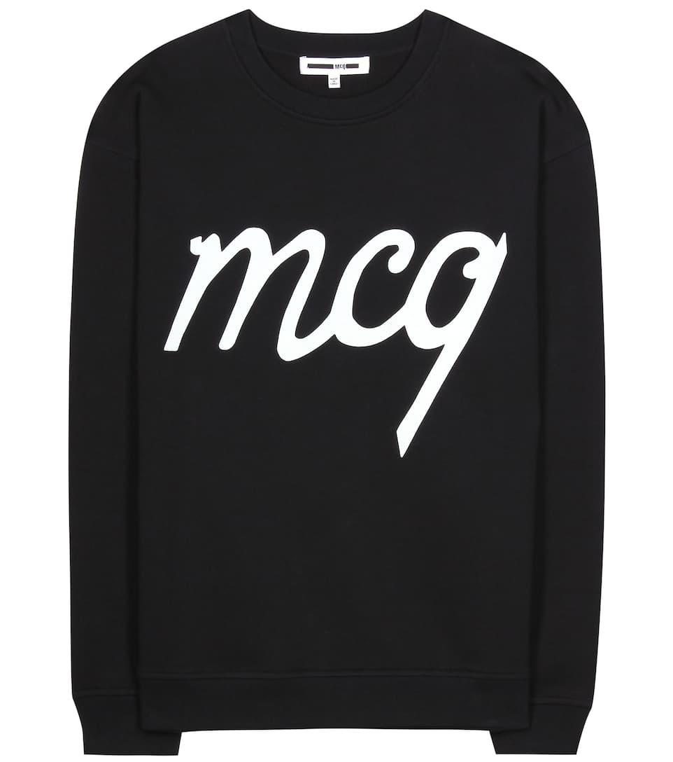 McQ Alexander McQueen Printed cotton sweater