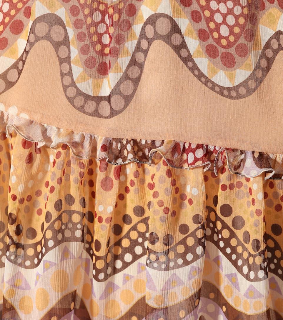 Chloé Exklusiv bei mytheresa.com – Bedrucktes Kleid aus Seide