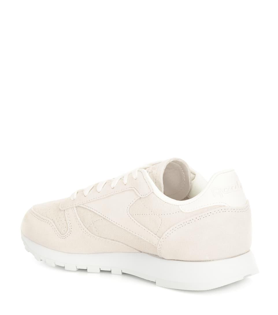 6024bb54a99 Classic nubuck leather sneakers. Reebok