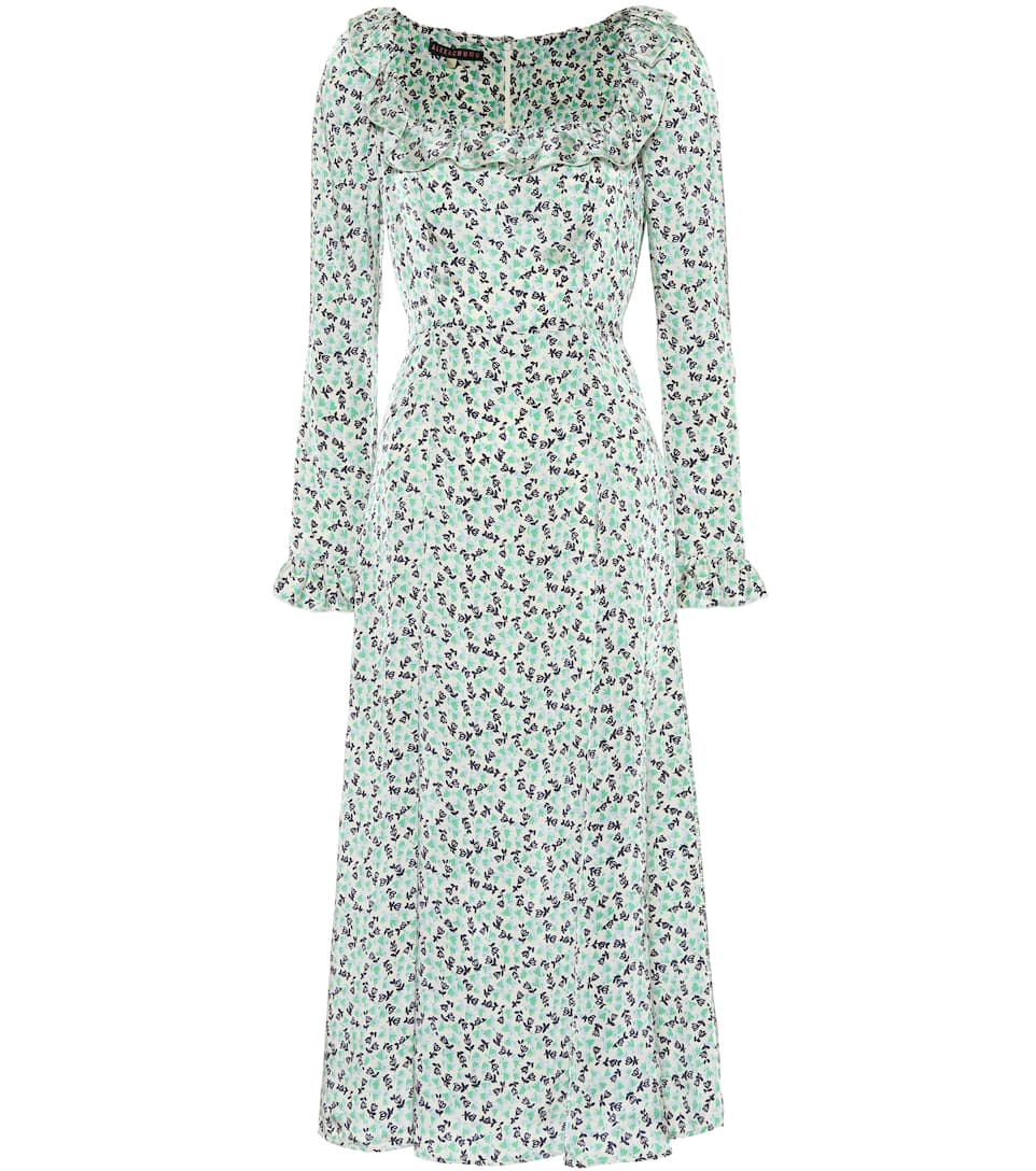 Alexa Chung Woman Floral-print Crepe Hooded Midi Dress Black Size 6 AlexaChung How Much For Sale Visit Online Aaa Quality ghdDet