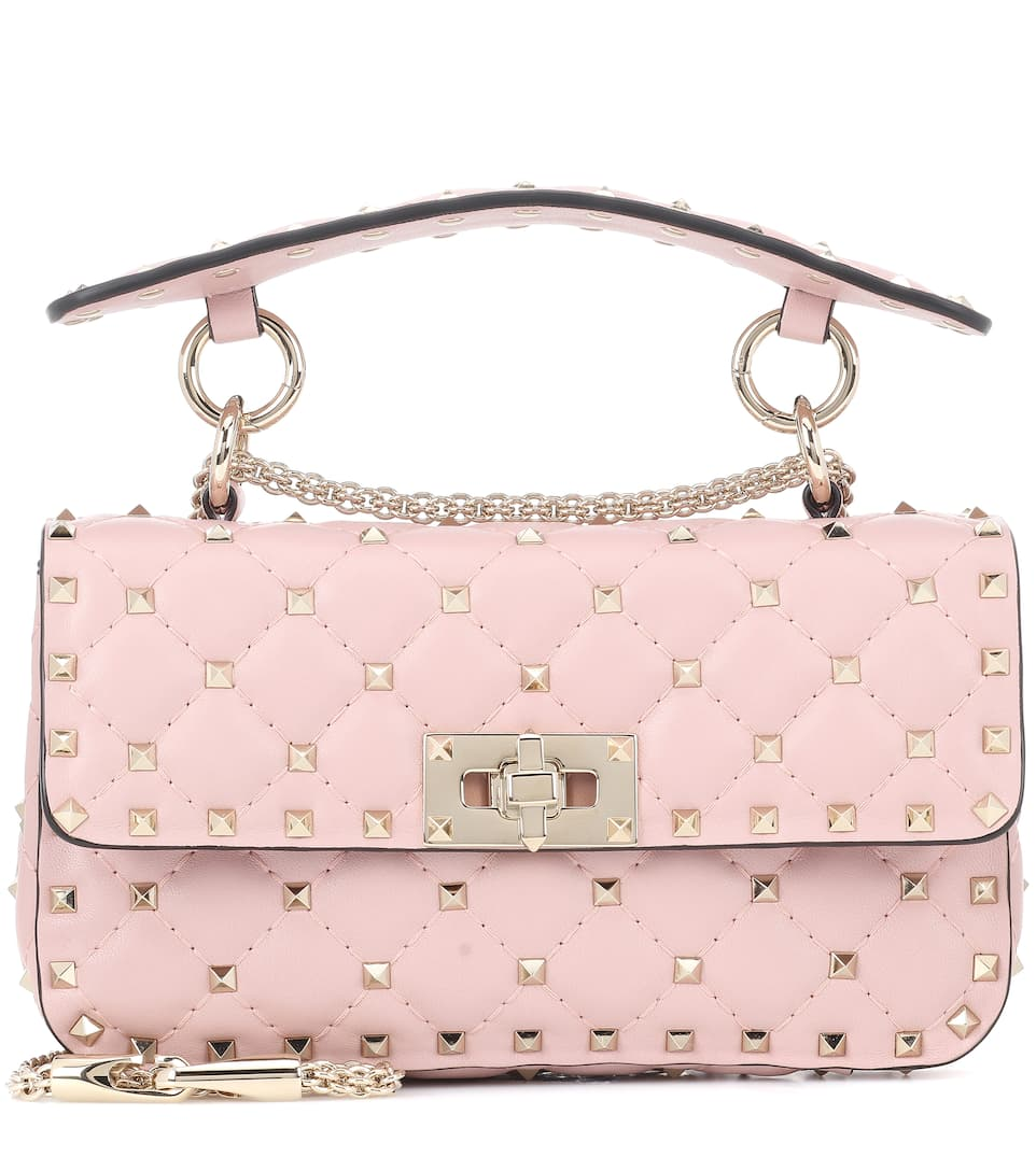 8d06e4c6bc3ec Valentino - Valentino Garavani Rockstud Spike Small leather shoulder bag