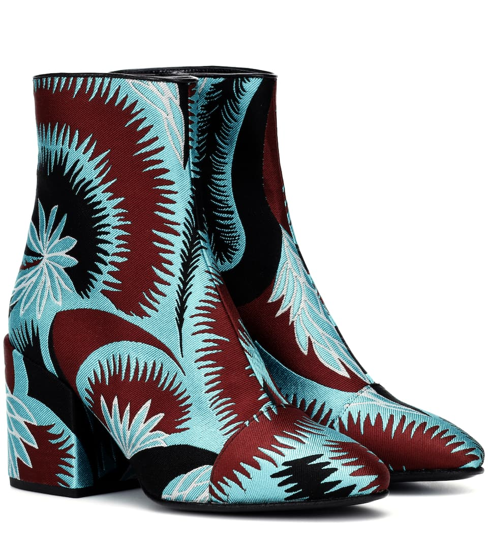 Dries Van Noten - Bottines en brocart