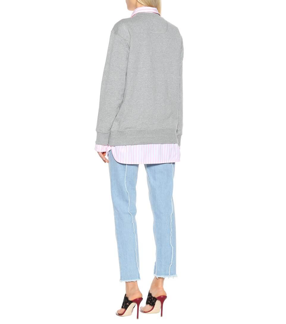MELANGE de con Marc Jacobs Sudadera algodón adornos GREY Zqx6wgw0