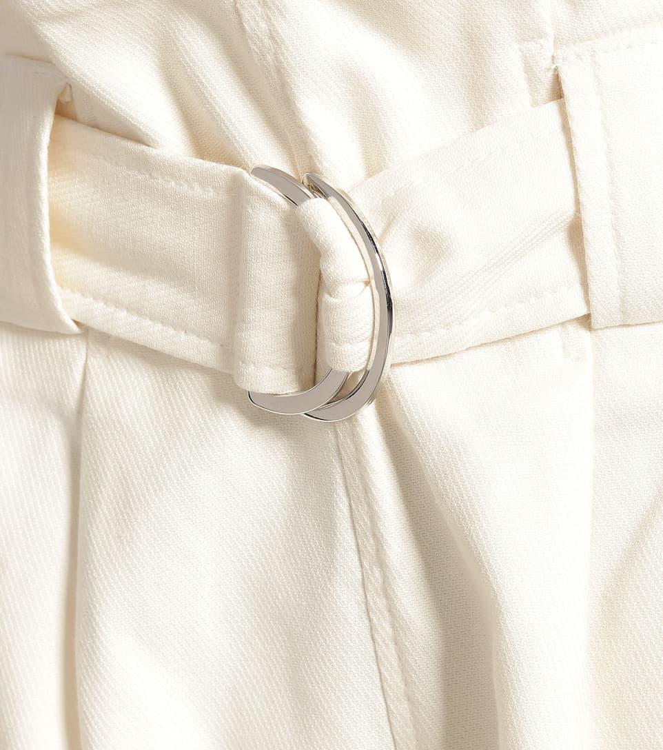 Pantaloni A Vita Alta In Cotone