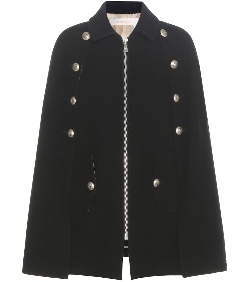 See By Chloé Wool-blend cape