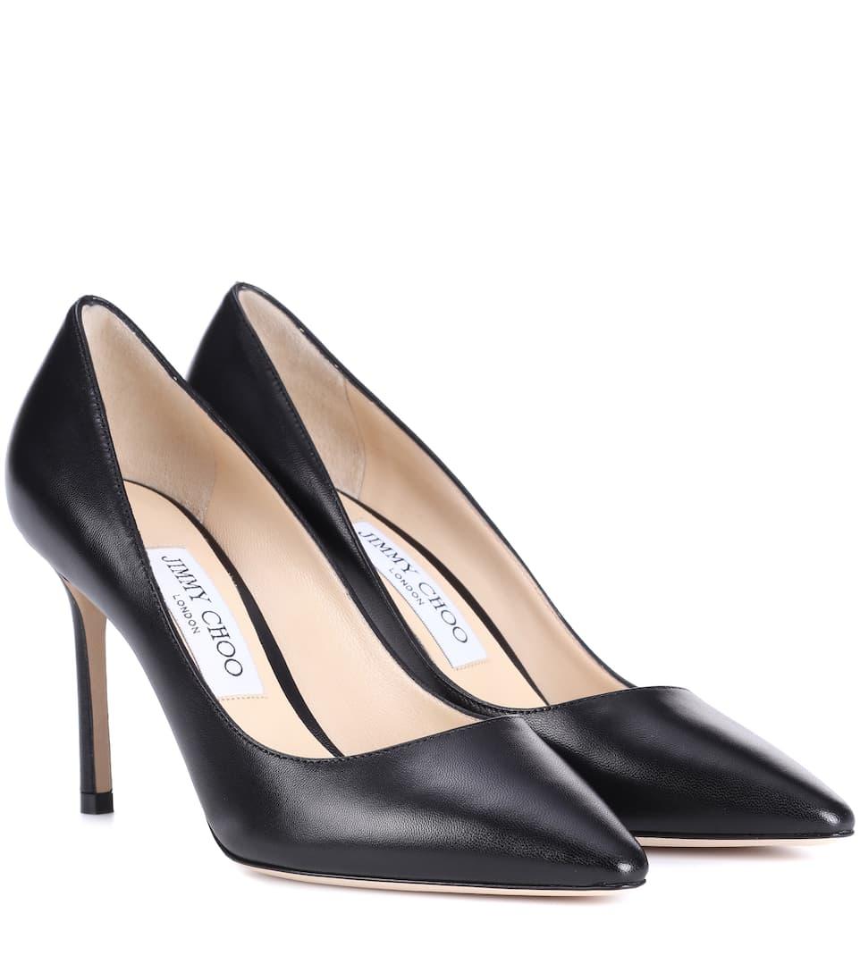4ed39cd2d2 Jimmy Choo Ava 100 Black Liquid Leather Pointy Toe Pumps | ModeSens