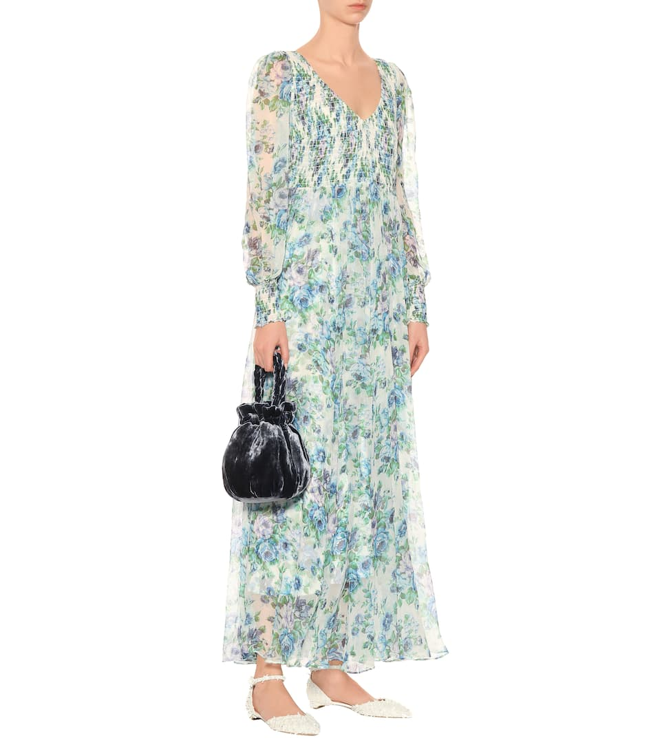 From UK For Sale Shop Offer Cheap Online Zimmermann Whitewave Shirred dress Azure Wallpaper Low Cost Cheap Online edLDH5T