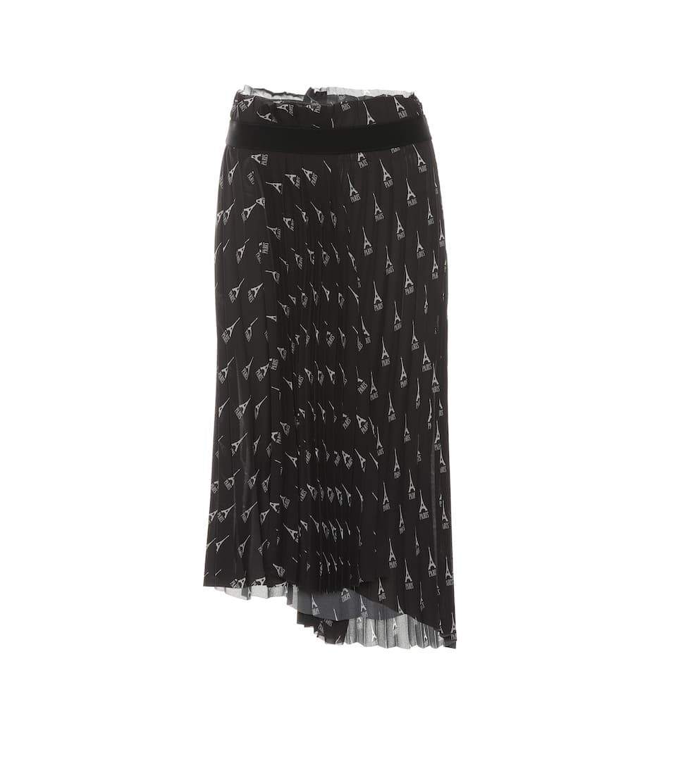 Pleated Printed Midi Skirt by Balenciaga