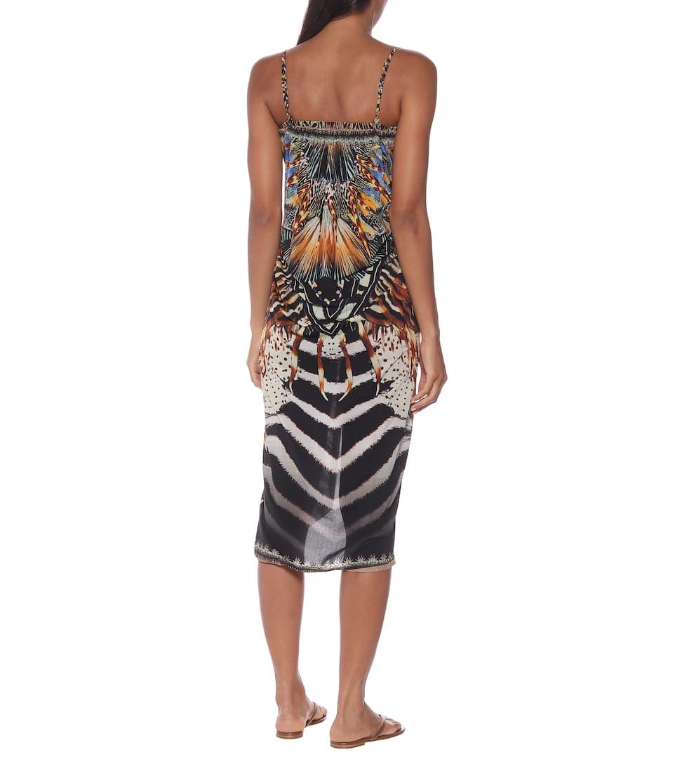 Camilla - Printed stretch-jersey midi dress