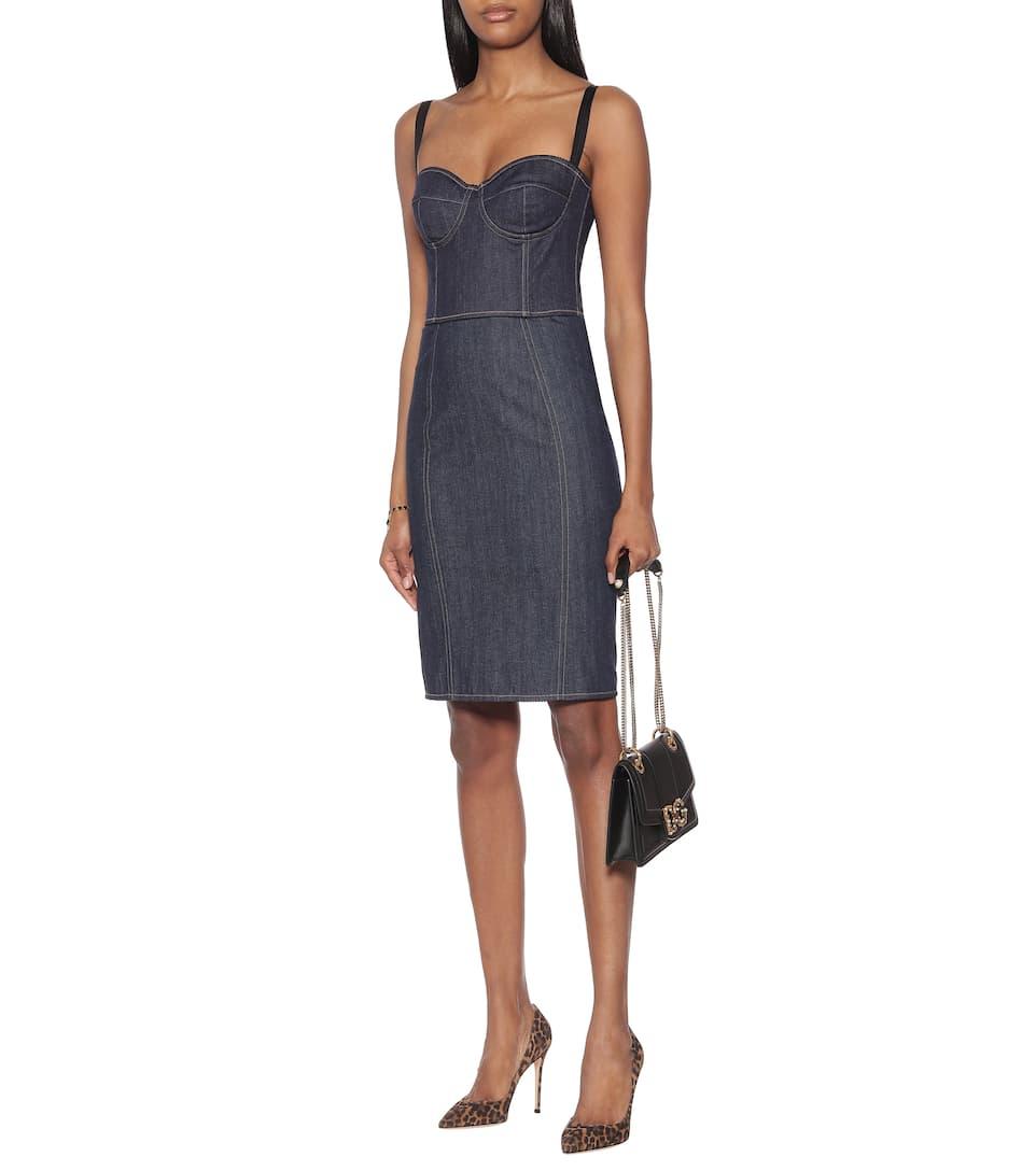 Dolce & Gabbana - High-rise denim pencil skirt