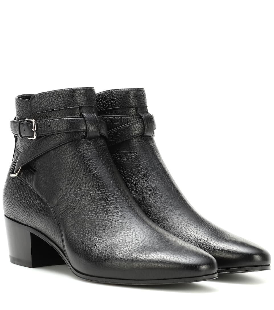 Saint Laurent Ankle Boots Blake 40 Jodhpur aus Leder