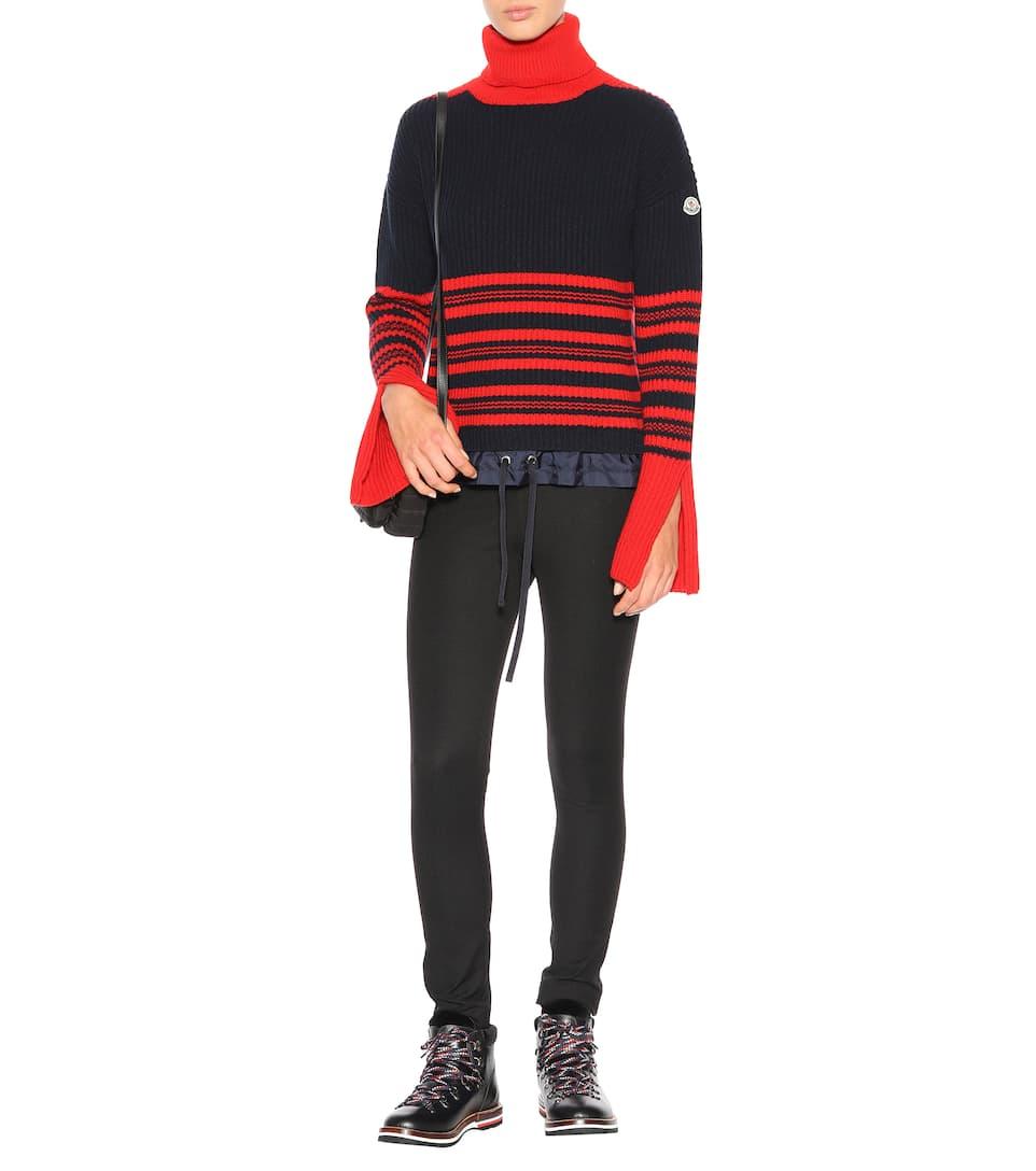 Billig Verkauf 100% Original Verkauf Viele Arten Von Moncler Rippstrick-Pullover aus Wolle und Cashmere Vorbestellung Für Verkauf Günstig Kaufen Neuesten Kollektionen PRXkWfQpd
