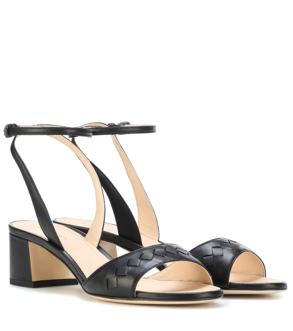 9bbd7b65775a Intrecciato Leather Sandals