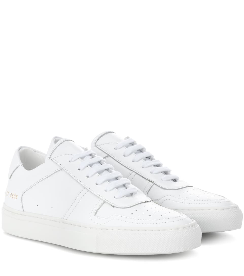 Bball Low White Leather Women'S Sneakers, Female