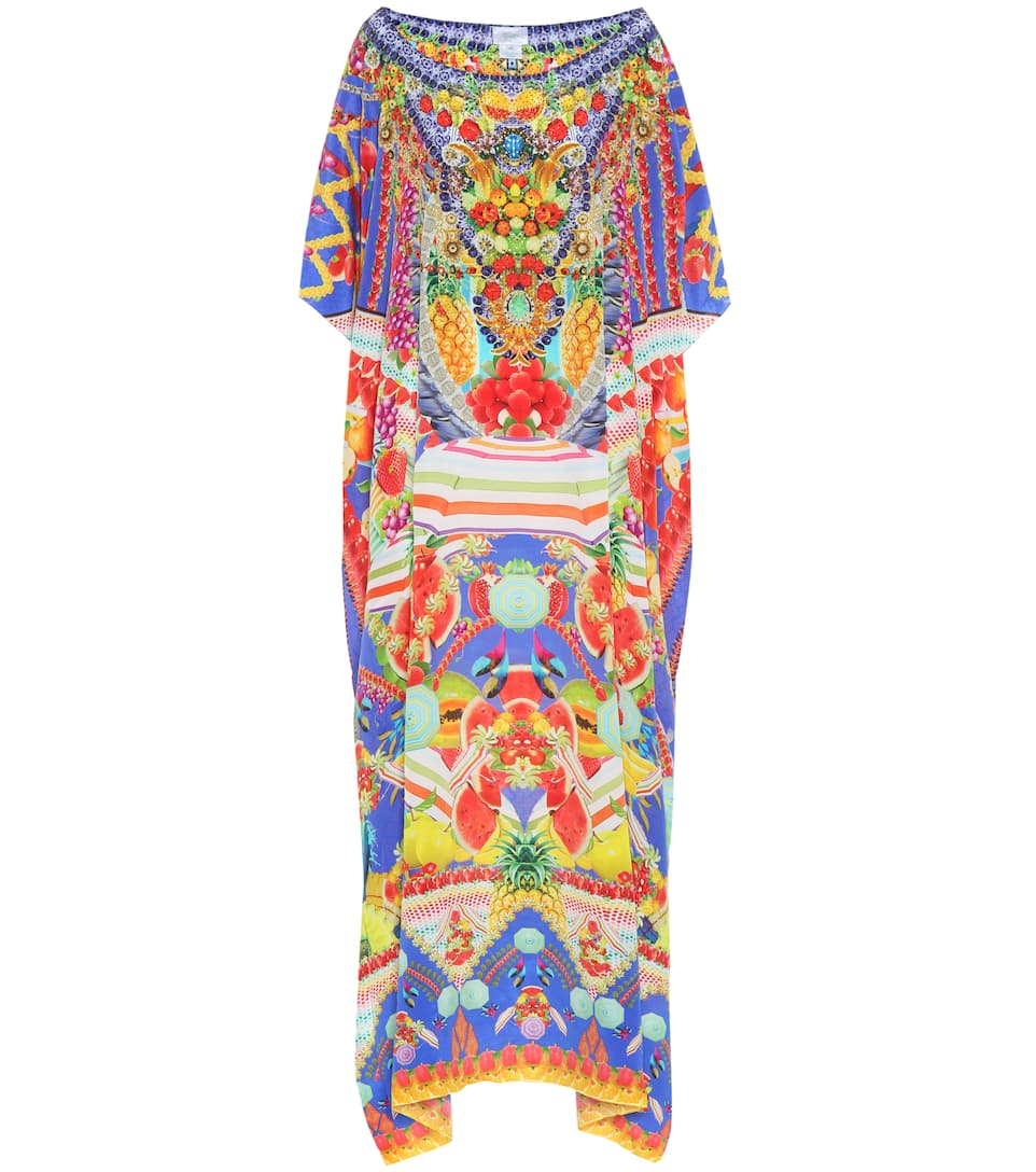 Camilla Printed silk kaftan Rio Riot Footlocker Pictures For Sale Clearance Sneakernews Visit New Sale Online cyBVP2