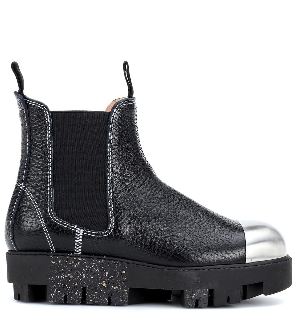 Acne Studios Ankle Boots Tillay Metal aus Leder