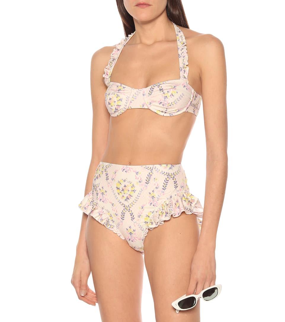 LoveShackFancy - Kimberly high-rise bikini