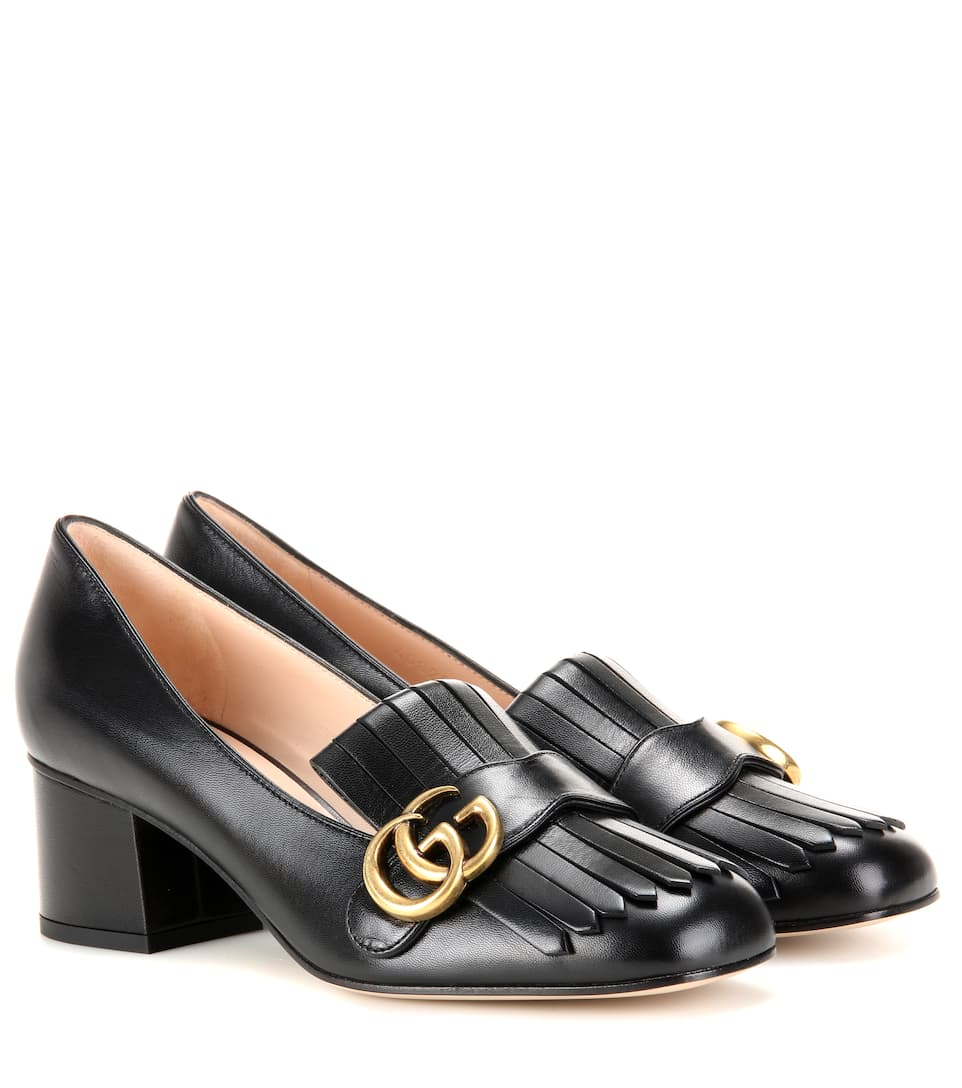 Leather loafer pumps Gucci s0zow1M
