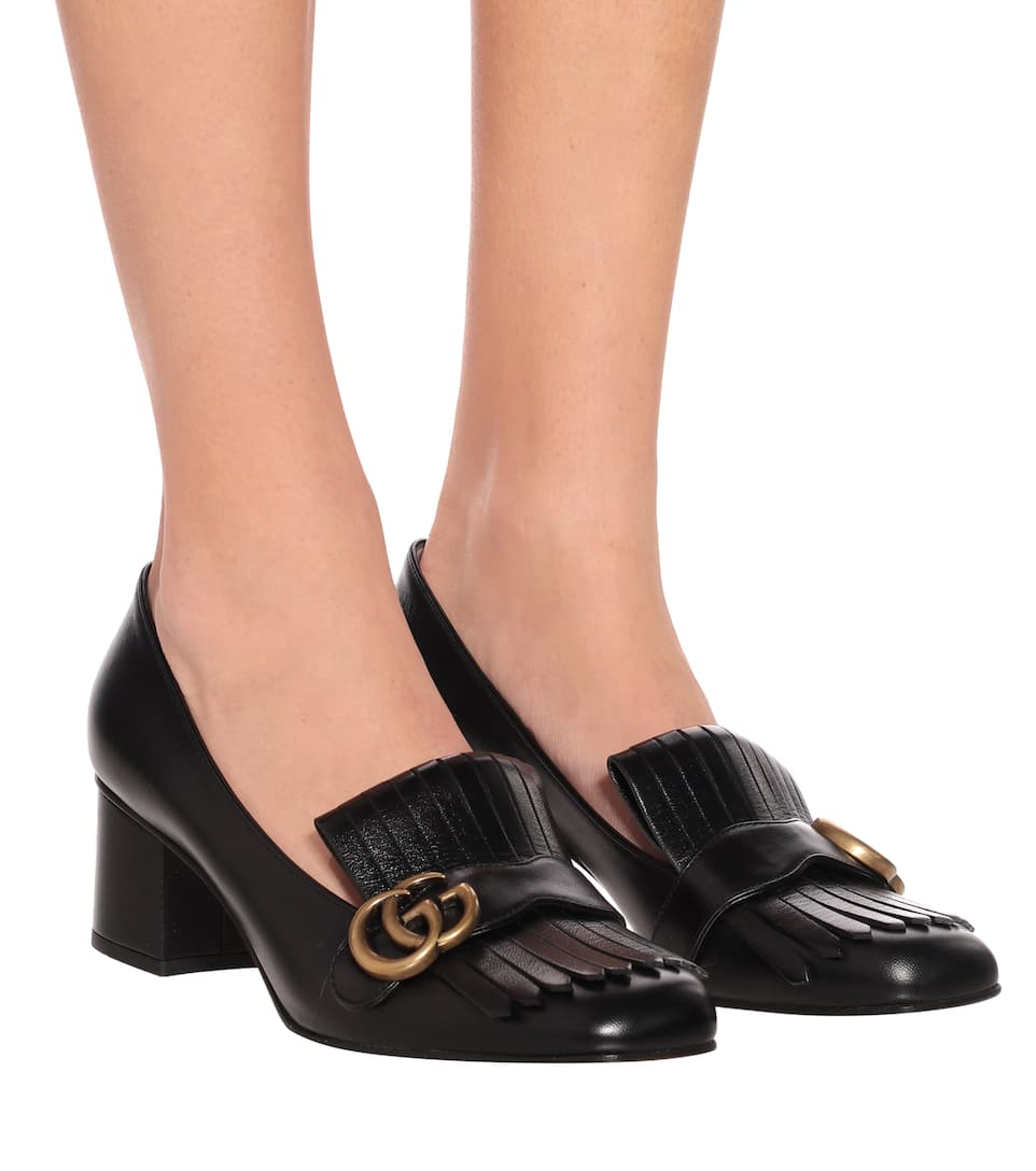 Gucci - Marmont leather loafer pumps